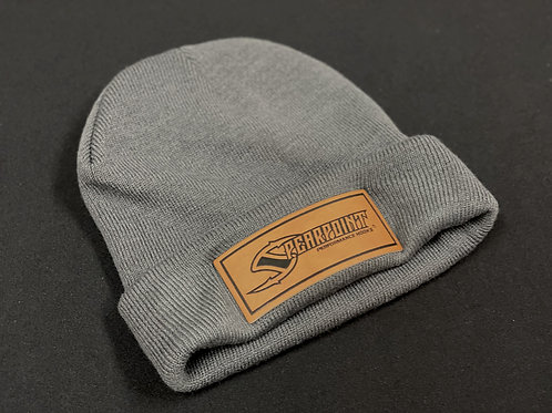 Spearpoint Leather Patch Beanie