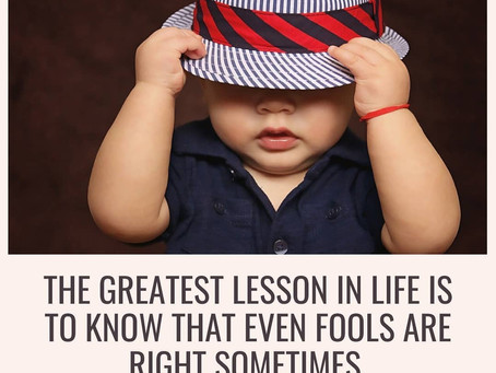 The Greatest Lesson In Life.