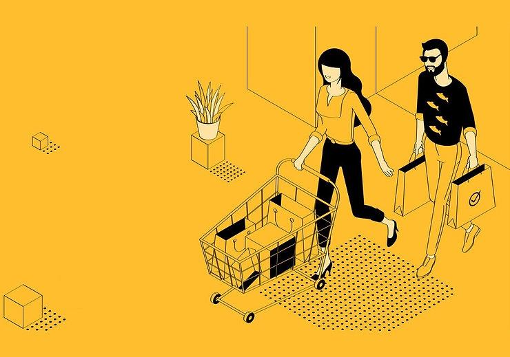 flat-design-online-shopping-template-vec