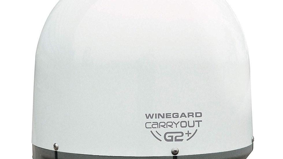 Carryout G2+ Automatic Portable Satellite TV Antenna White & Black