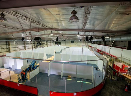 Curtis Painting Group specialists help turn field hospital vision to reality