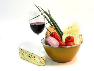 1月ワイン会は新鮮野菜でチーズホンデュ