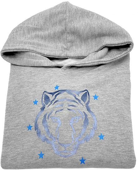 Super Soft Grey Tiger Star Hoodie