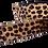 Thumbnail: Leather Leopard Fur Detachable Fabric Strap