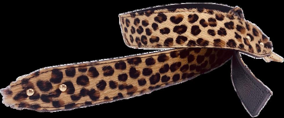 Leather Leopard Fur Detachable Fabric Strap