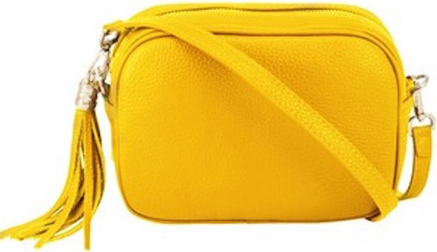 Sunburst Yellow Soft Leather Bag