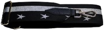 Black & Silver Star Detachable Fabric Strap