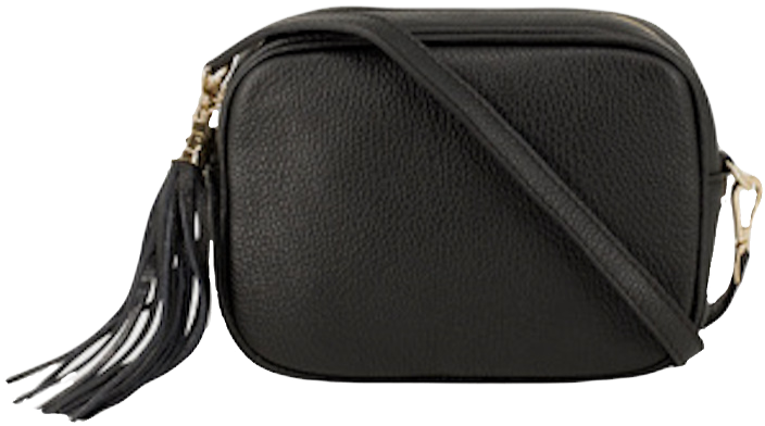 Contemporary Black Soft Leather Bags