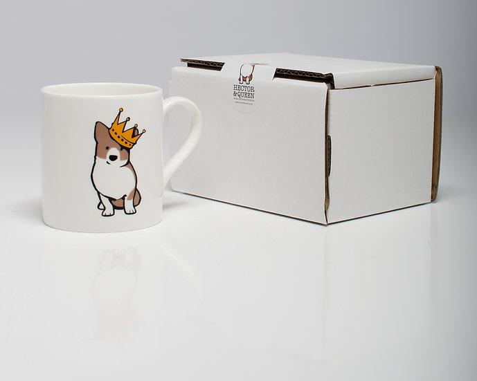 Fine Bone Corgi Porcelain Mug