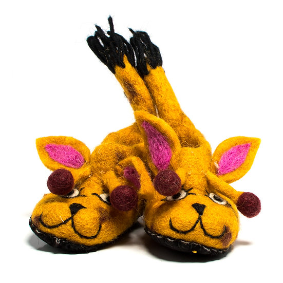 Twiga The Giraffe Handmade Felted Slippers