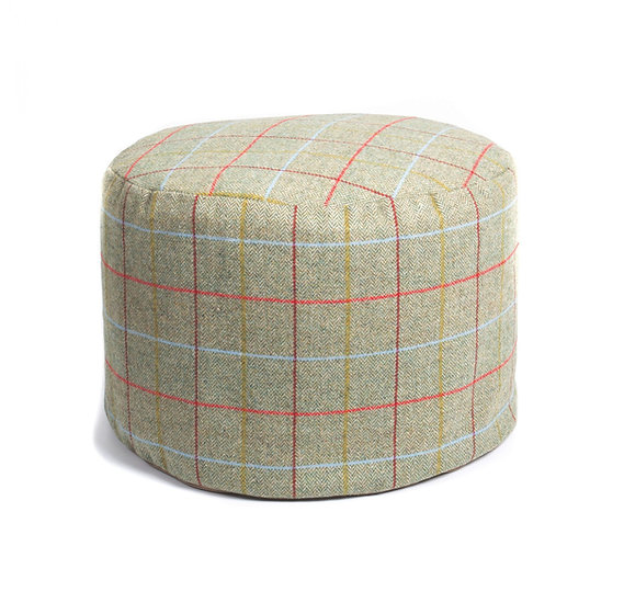 Classic Cotswold Tweed Handmade Pouffe