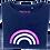 Thumbnail: Super Soft, Long Sleeve Navy Rainbow Top