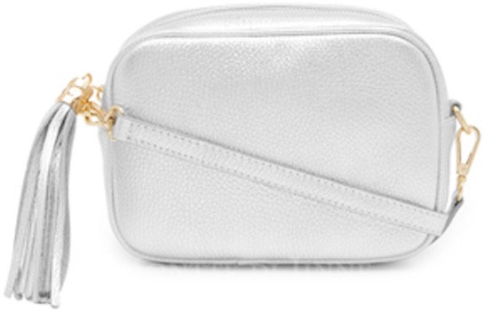 Showstopping Silver Soft Leather Bag