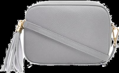Dusty Light Grey Soft Leather Bag