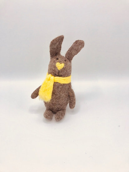 Spice The Rabbit Handmade Felted Animal Friend