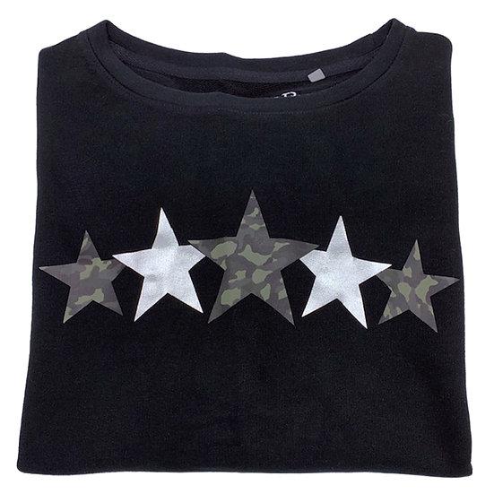 Super Soft, Long Sleeve Camo Stars Top