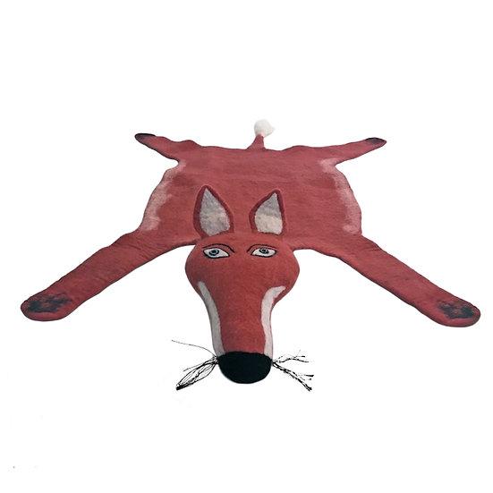 Fergus The Fox Handmade Felted Rug