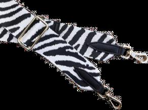 Zebra Print Detachable Fabric Strap
