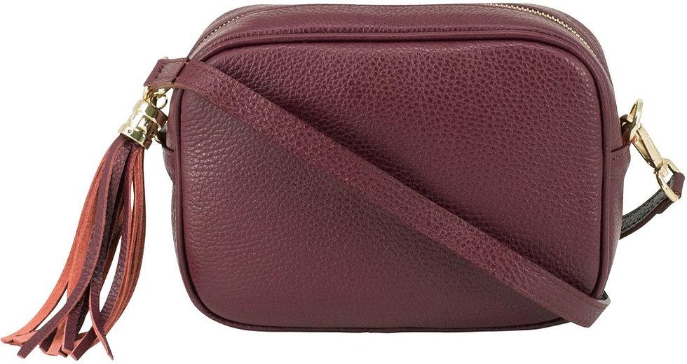 Lush Burgundy Soft Leather Bag