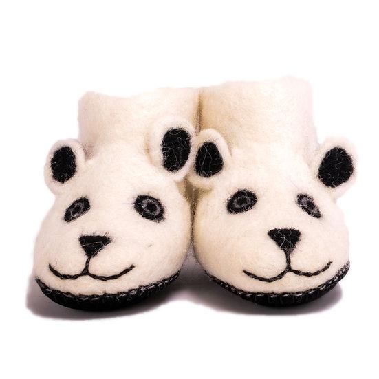 Dube The Polar Bear Handmade Felted Slippers