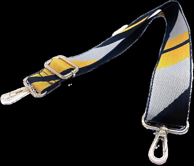 Yellow & Dark Navy Detachable Fabric Strap