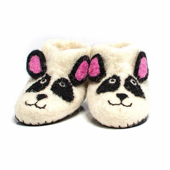Kubeba The Panda Bear Handmade Felted Slippers