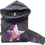 Thumbnail: Super Soft Cowl Neck Silver Pink Star Hoody