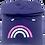 Thumbnail: Super Soft Cowl Neck Rainbow Hoody