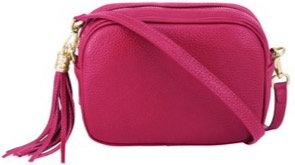 Fuchsia Pink Soft Leather Bag