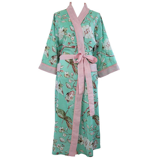 Mint Blossom Dressing Gown