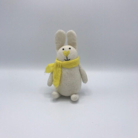 Sugar The Rabbit Handmade Felted Animal Friend