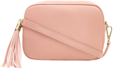 Pastel Baby Pink Soft Leather Bag