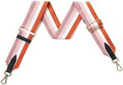 Tan & Pink Detachable Fabric Strap