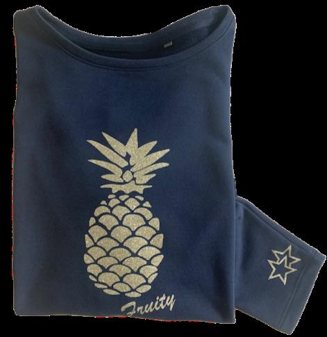Super Soft, Long Sleeve Juicy Pineapple Top