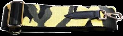 Black & Yellow Camo Detachable Fabric Strap