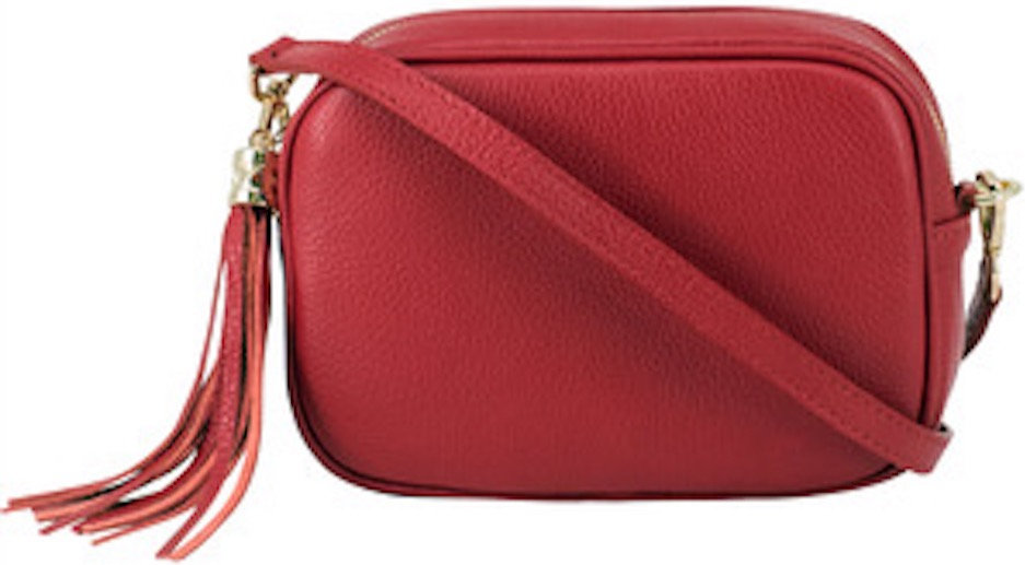 Lipstick Red Soft Leather Bag