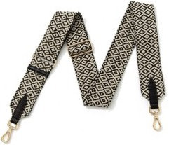 Black & Cream Detachable Fabric Strap