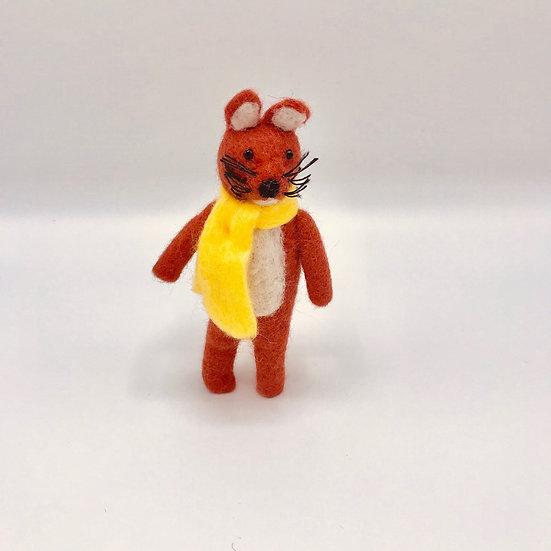 Fergus The Fox Handmade Felted Animal Friend