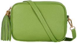 Lime Green Soft Leather Bag
