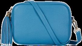 Sky Blue Soft Leather Bag