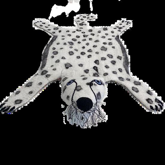 Chui Wa The Handmade Snow Leopard Felted Rug