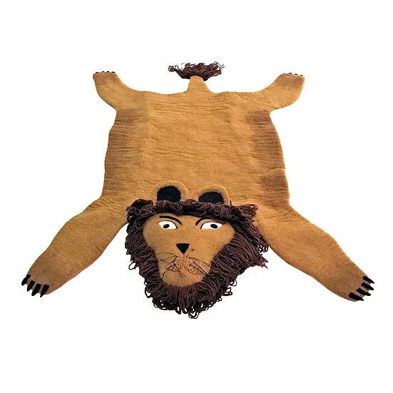 Simba The Handmade Lion Felted Rug