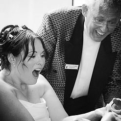 Bride loves the magic