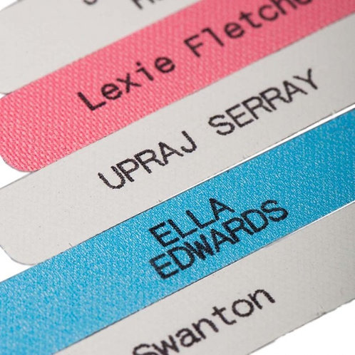 Printed Iron on Name Tapes