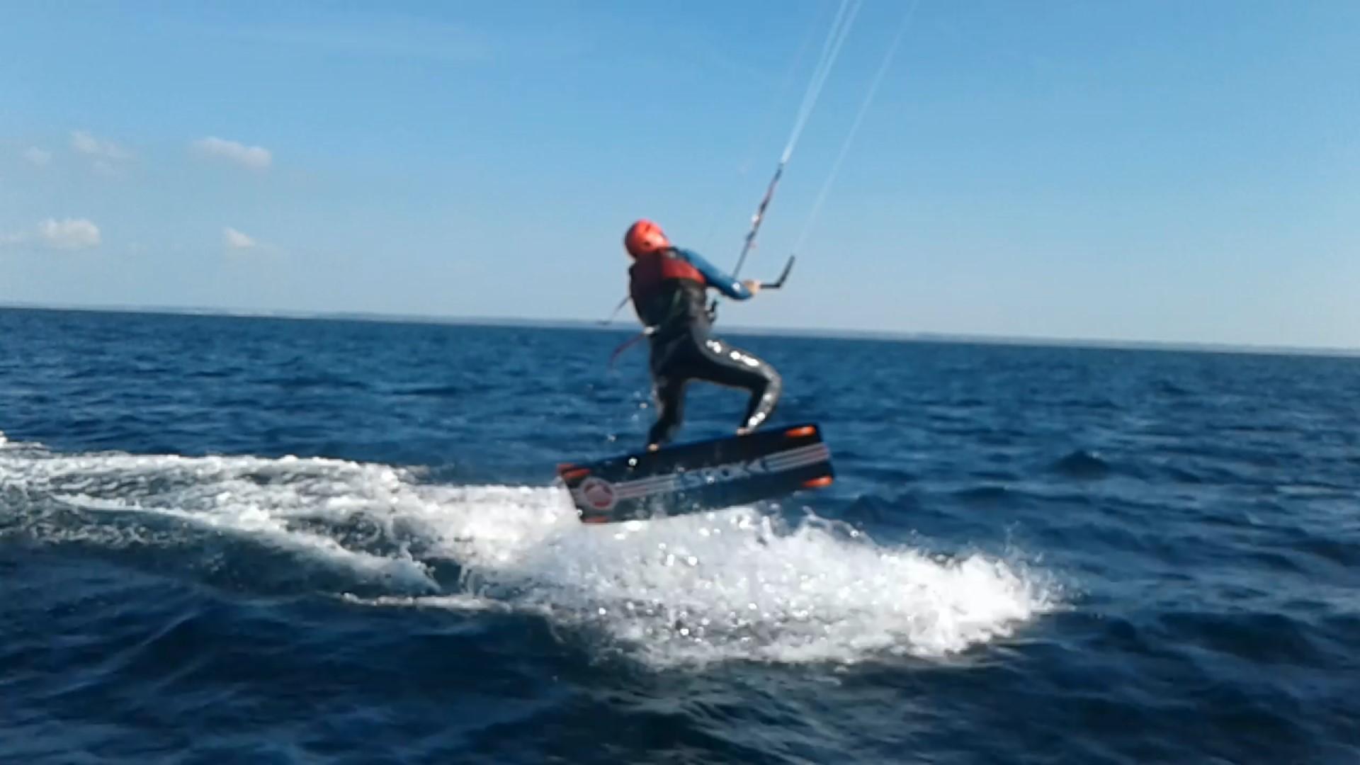 kitesurf pleine eau morgat