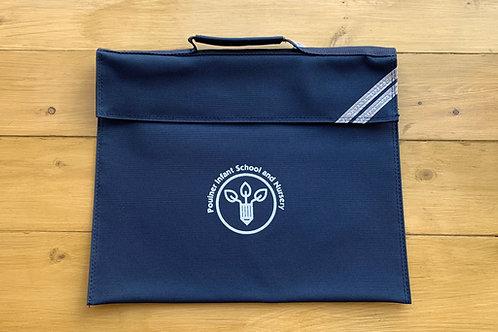 NEW LOGO Poulner Infant school Navy Bookbag