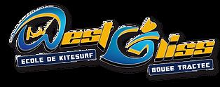 logo WESTGLISS: ECOLE DE KITESURF / BOUEE TRACTEE à PENTREZ/CROZON  en baie de Douarnenez, près de Quimper, Finistère, pointe Bretagne