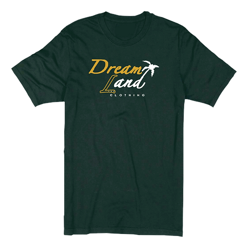 Classic DNL Tee (Forest Green/Gold/White)