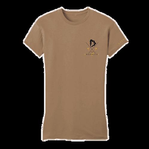 Midas DNL Tee (Pebble Brown/Blk/Gld)[f]
