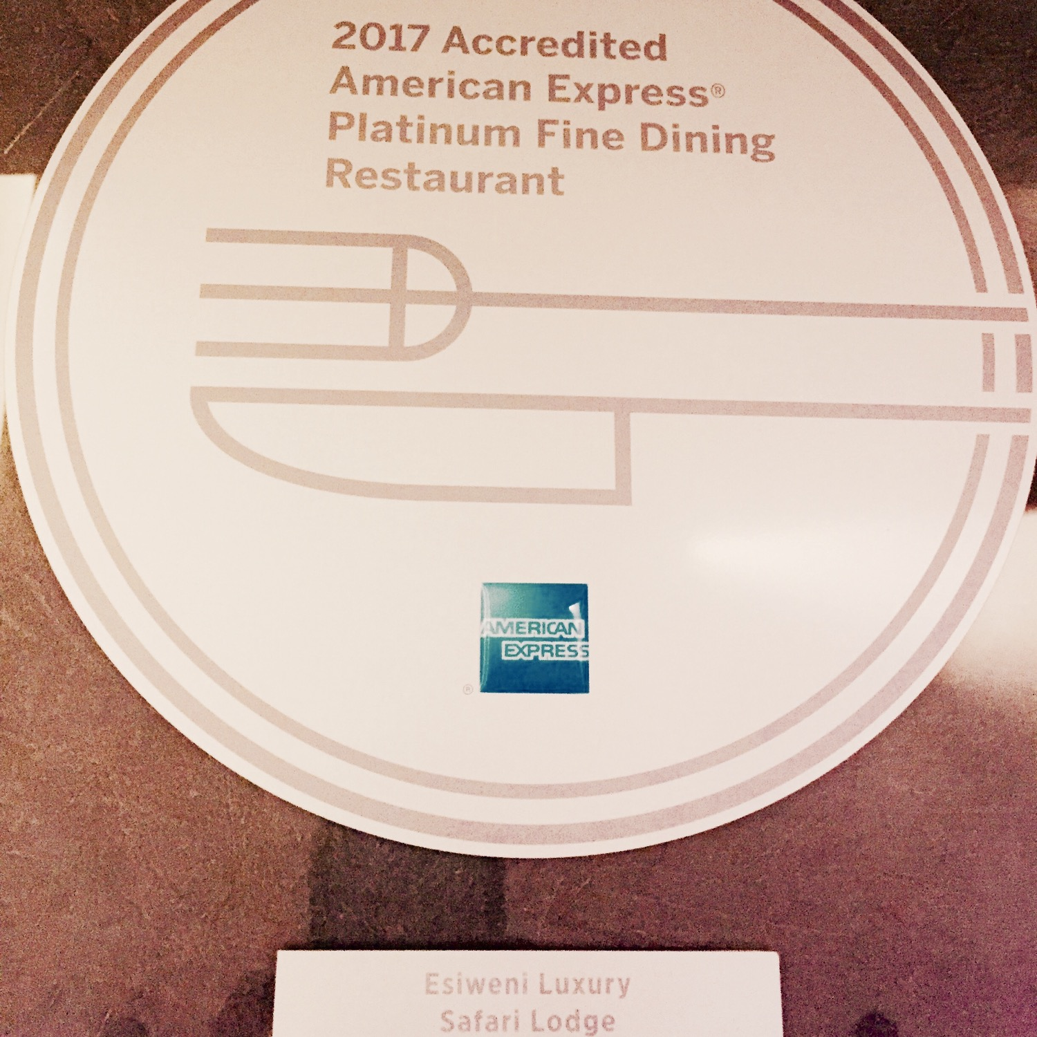 Amex 100 Best Restaurant South Arica